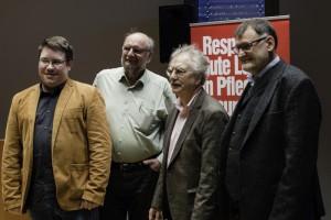 von links nach rechts: Sebastian Lucke, Peter Schimke, Wolfgang Kessler und Walter Kubach